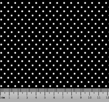 Bolinha Pequena Desenho 21PFT Preto com Branco