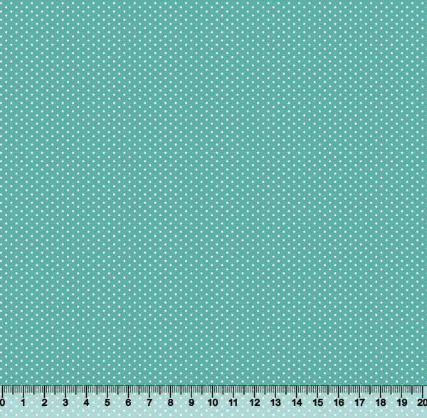 Bolinha Micro Des. 2198 var23 Azul Tiffany - Fundo s380