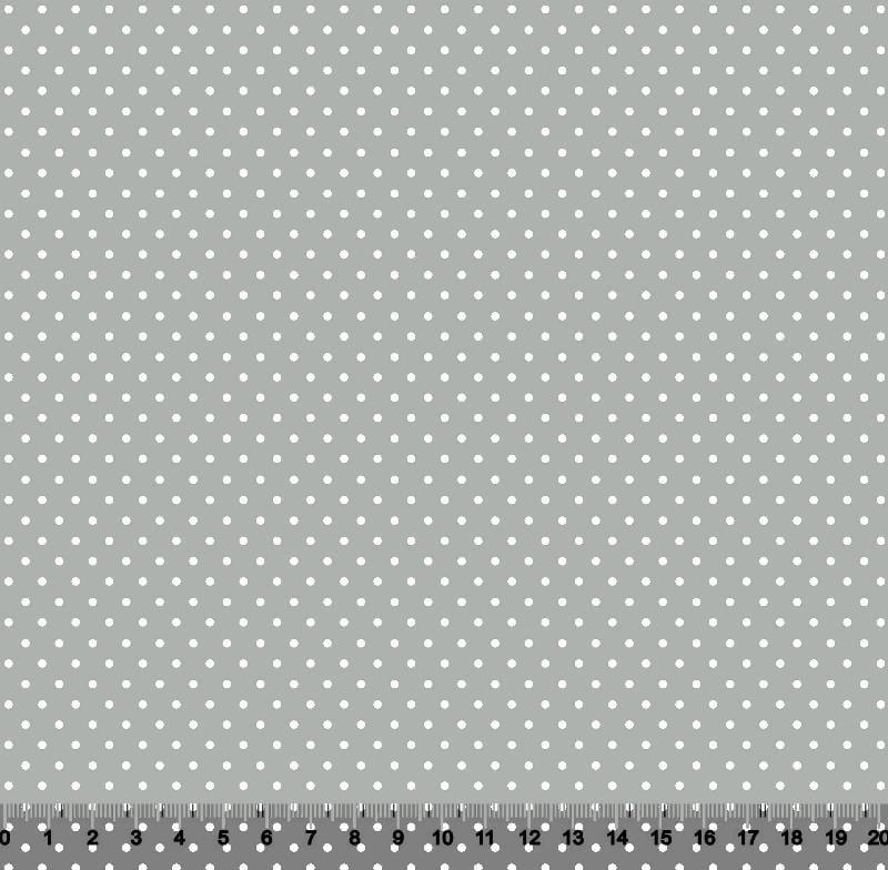 Bolinha MICRO Des 1002 var710 Cinza com Branco