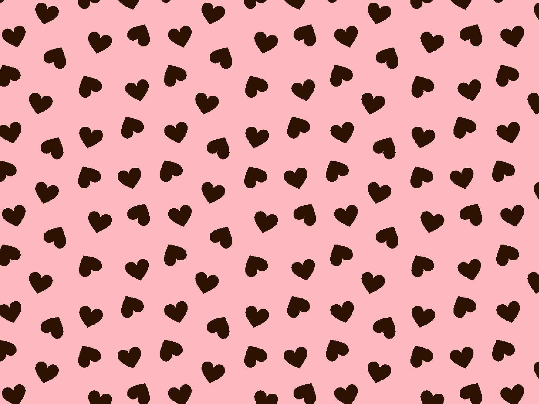 Coração Desenho 2339 var01 Rosa com Marrom