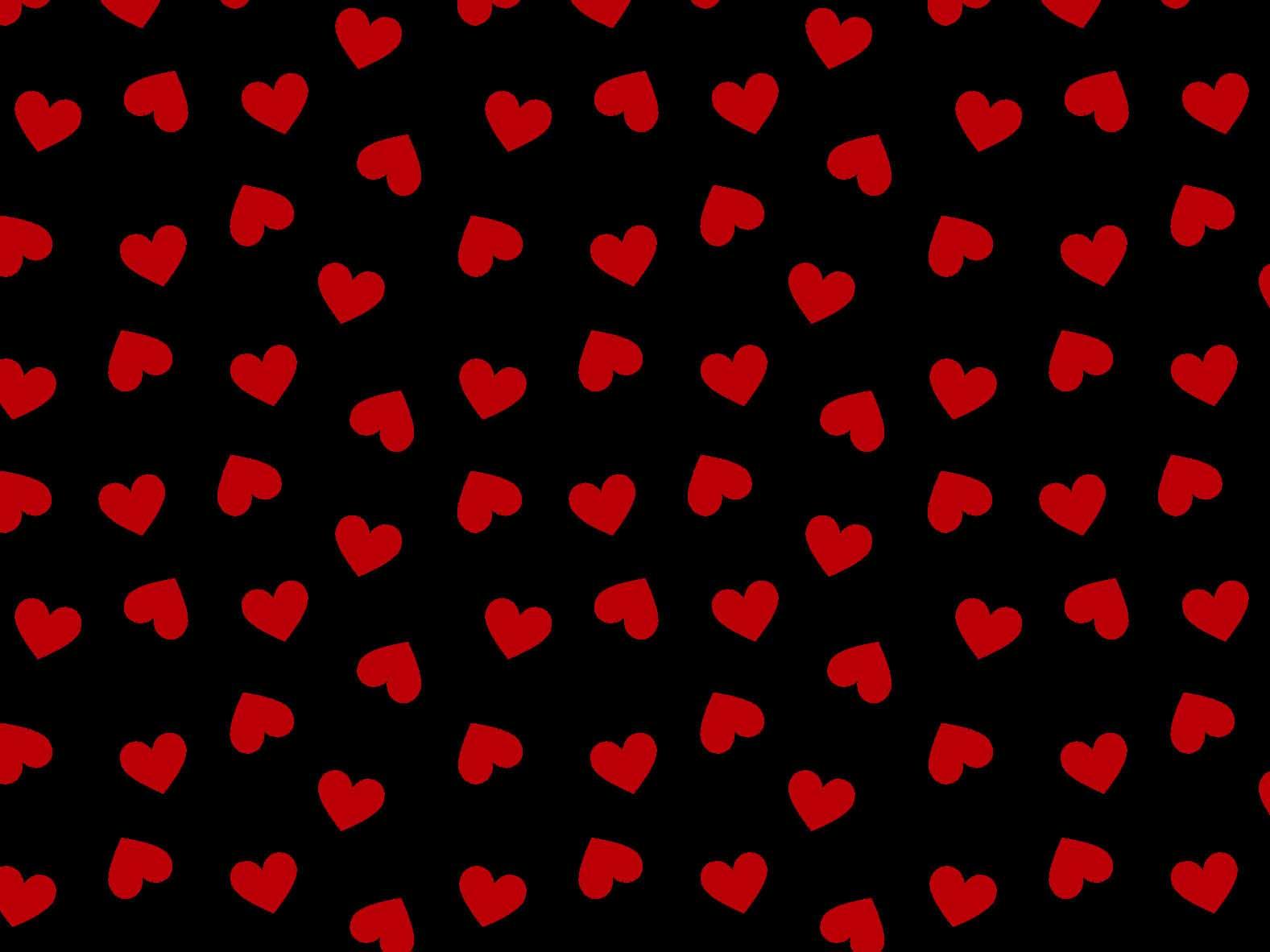 Coração Des. 2339 var10- Preto com Vermelho