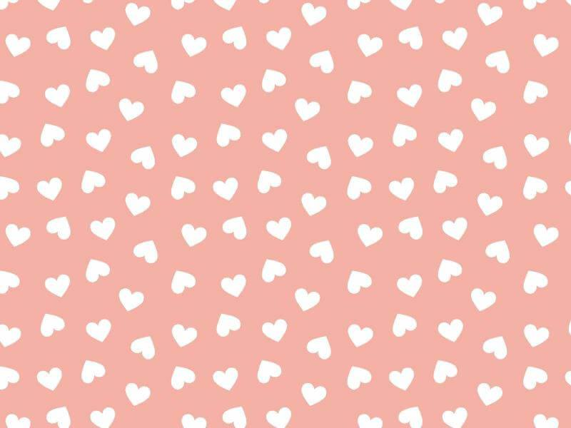 Coração Desenho 2339 var24-Rose com Branco