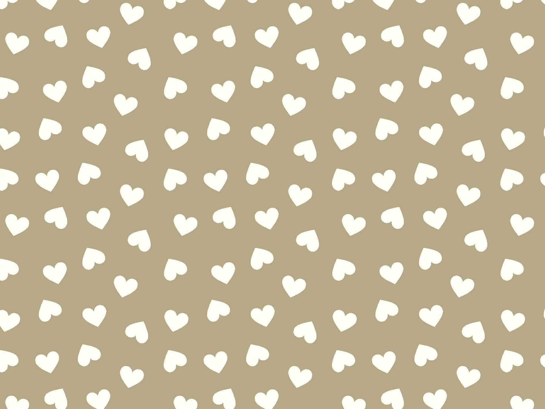 Coração Des. 2339 var16- bege com Branco