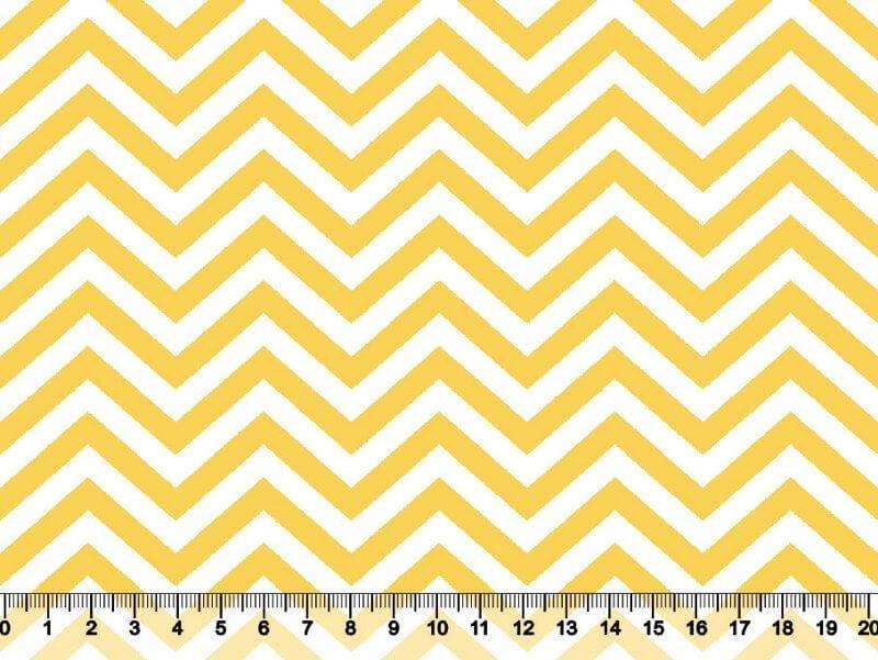 Chevron Des. 2745 Var 11 - Amarelo com Branco