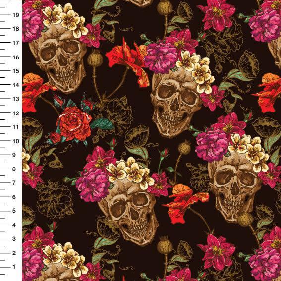 Caveira Floral Digital 9100e2910