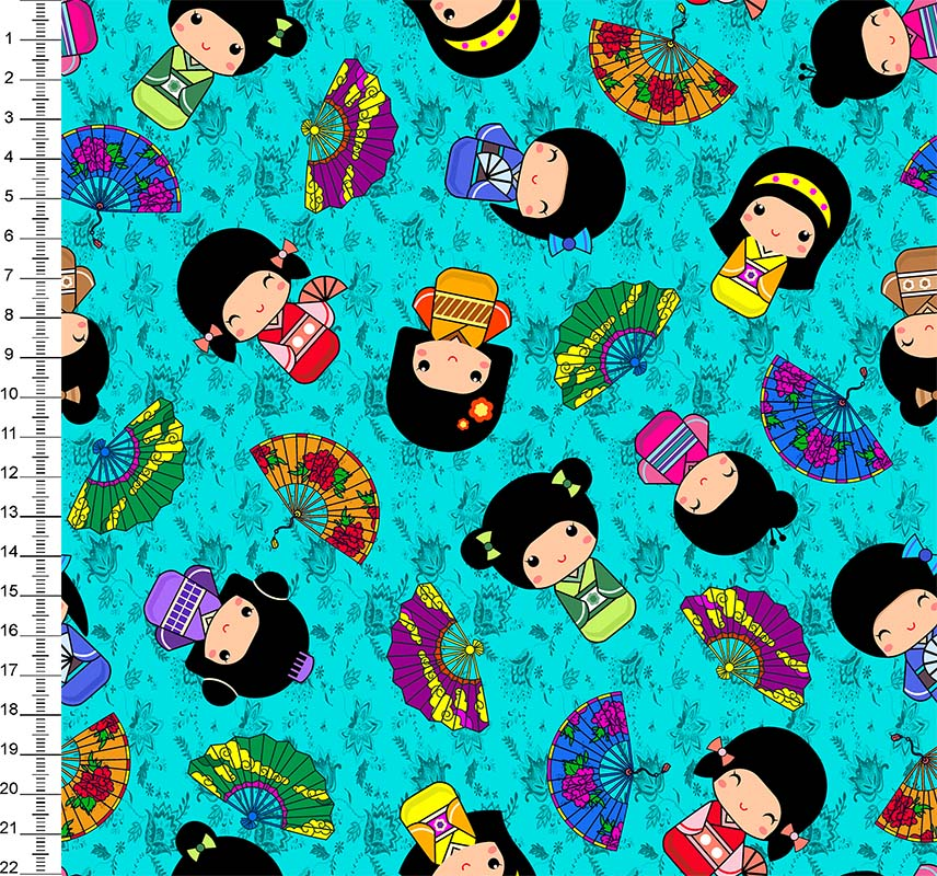 Kokeshi Digital Fundo Tiffany - Des 9100e2972