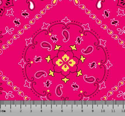 Lenço \ Bandana Desenho 5000 var02- Pink