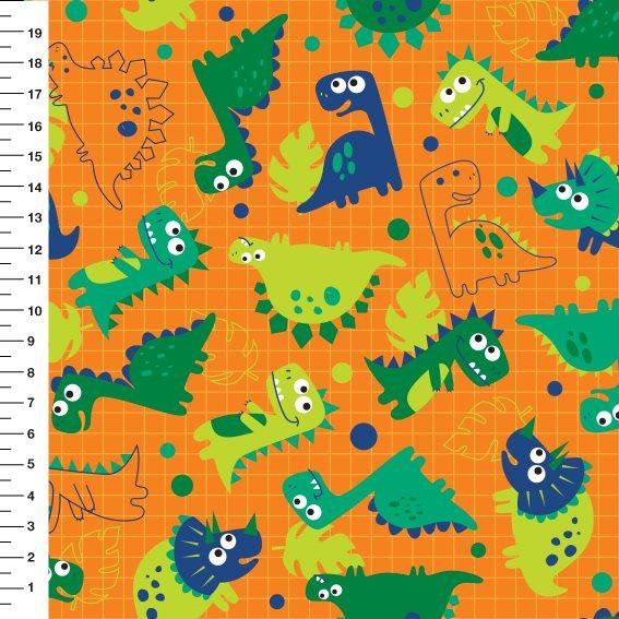 Dinossauro Fundo Laranja p9100e1119 - Meia Tigela