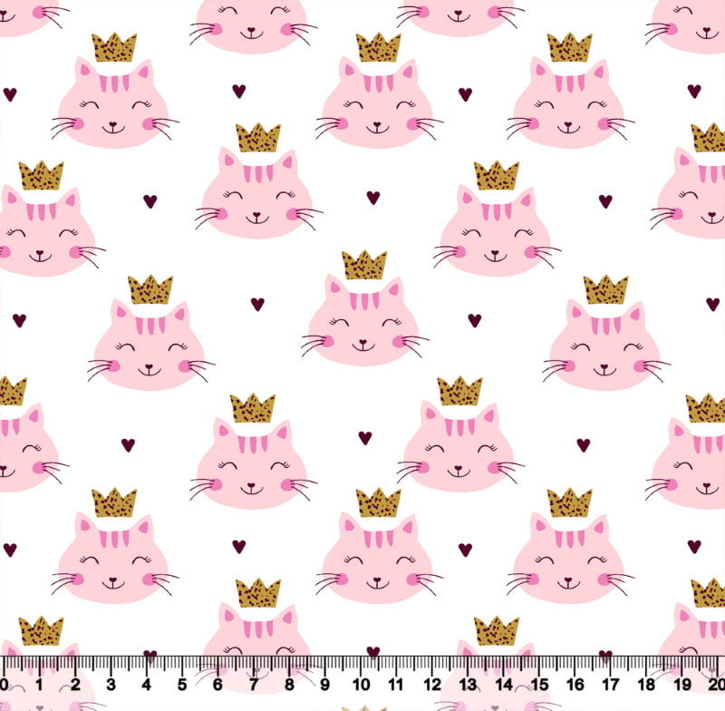 Gatinha Princesa Fundo Branco 3758 Var01