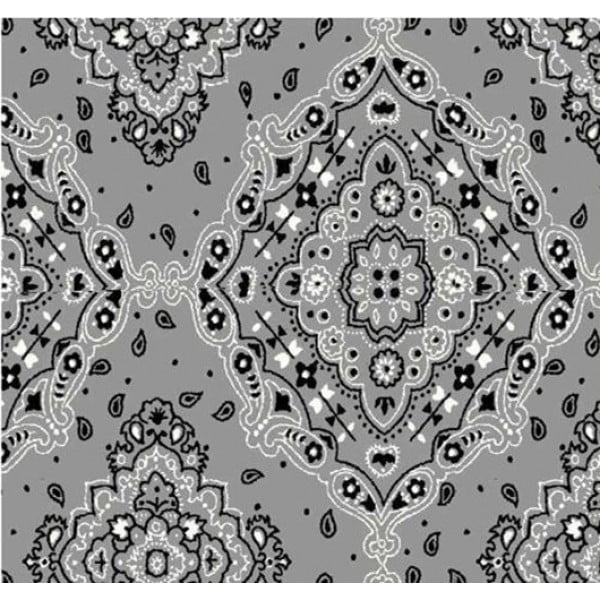 Lenço Bandana Desenho d2272 var04 - Cinza