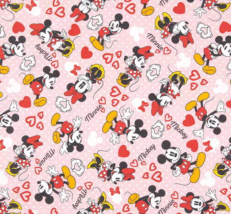 Mickey e Minnie Digital Fundo Rosa AM506111