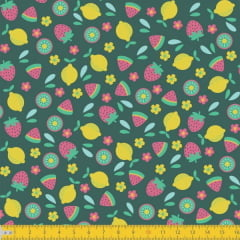 Frutas 5028v01 fundo verde escuro