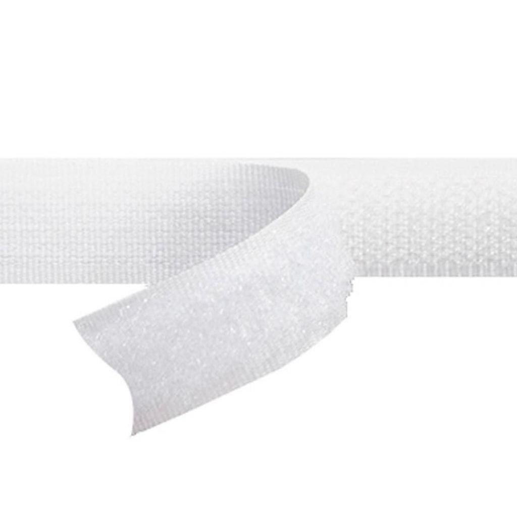 Fecho de Contato Auto Adesivo 25mm - Branco - Circulo