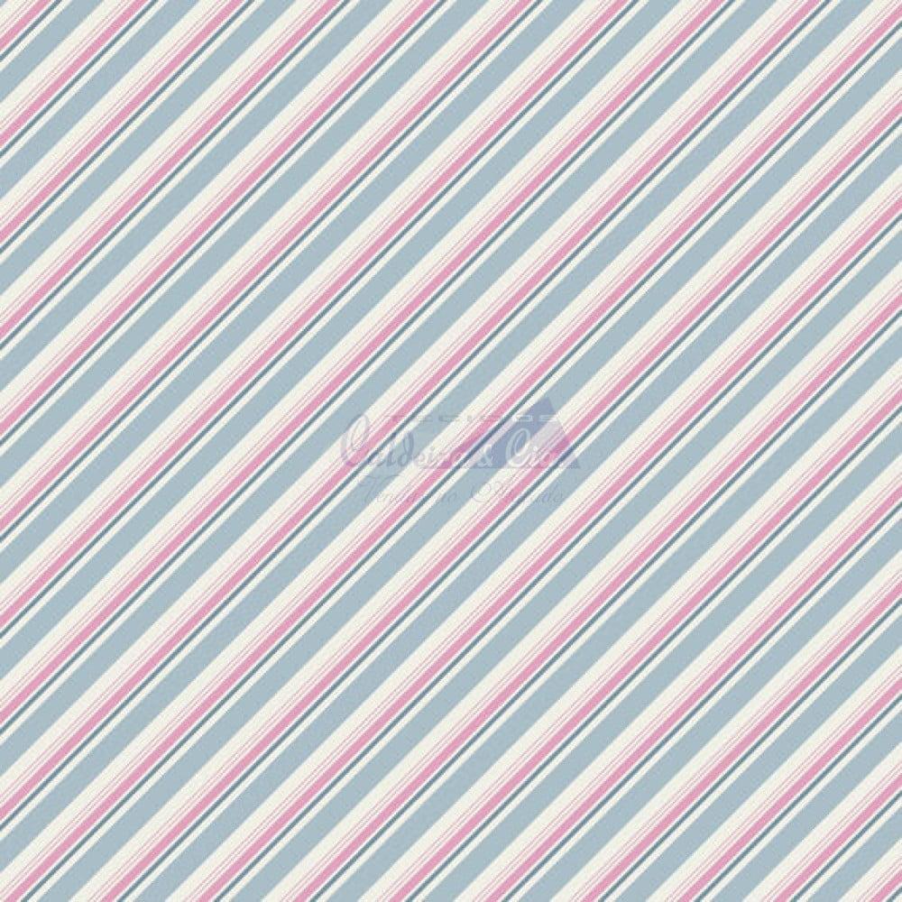 Diagonal Bianca cor 06 (Azul Vintage)