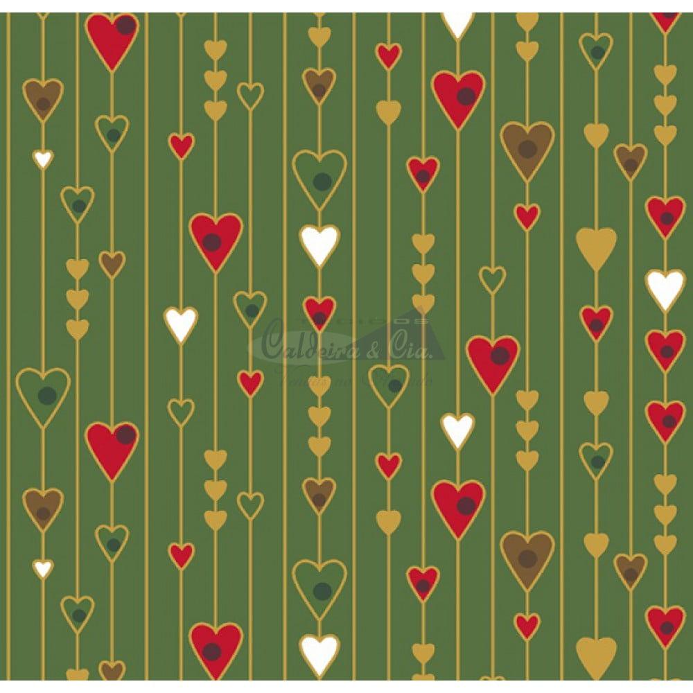 Natal Gold cor - 29 (Verde) corações