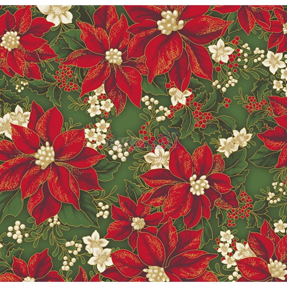 Natal Gold cor - 35 (Verde) flores