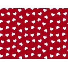 Coração Desenho 2339 var08- vermelho c/branco
