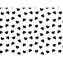 Coração Des. 2339 var06-  Branco com preto