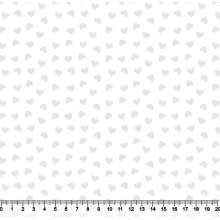 Coração Desenho 2339 var21 Branco com Branco