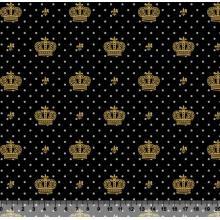 Coroa Des 2517 var16 - Fundo Preto - Poás Cinza - Coroas Douradas
