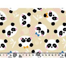 Panda Meia Tigela - Gravatinha  des 2783 Var02 - Fundo Bege