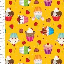 Bichinhos Cup Cake Des 32226 Var03 - Amarela