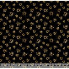 Diamante Preto com Dourado Des 3237 Var01