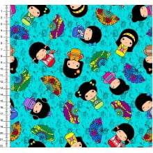 Kokeshi Digital Fundo Tiffany - Des 45409 Var01