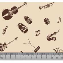 Musical Instrumento Des. 5030 var04- Fundo Bege