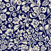 Floral Desenho 5201 var04 - fundo marinho