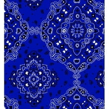 Lenço Bandana Desenho d2272 var09 - Royal