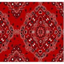 Lenço Bandana Desenho d2272 var03 Vermelha
