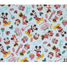 Mickey e Minnie Digital Fundo Azul AM506112