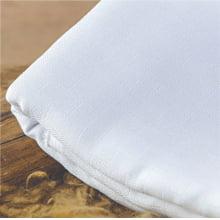 Tecido Fralda Branca Mabber 100% Algodão  1mt x 0,80cm Larg