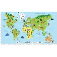 Mapa Mundi Infantil Des 56309