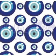 Olho Grego cor 04 (Branco c/ azul Forte)
