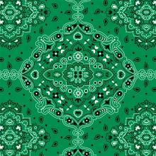Lenço Bandana Verde 2123 Var04