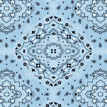Lenço Bandana Azul 2123 Var08
