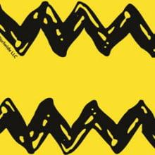 Snoopy Charlie Brown Chevron Fundo Amarelo sn016c01
