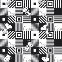 Snoopy Preto e Branco SN028c01