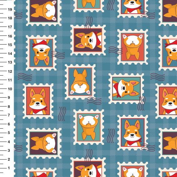 Dogs Selos 9100e4181 azul vintage