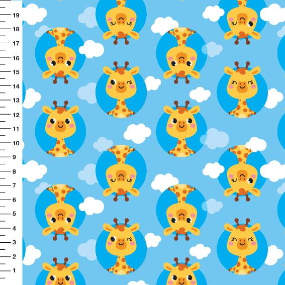 Girafinha Nuvem Meia Tigela Fundo Azul Des 55968 Var01