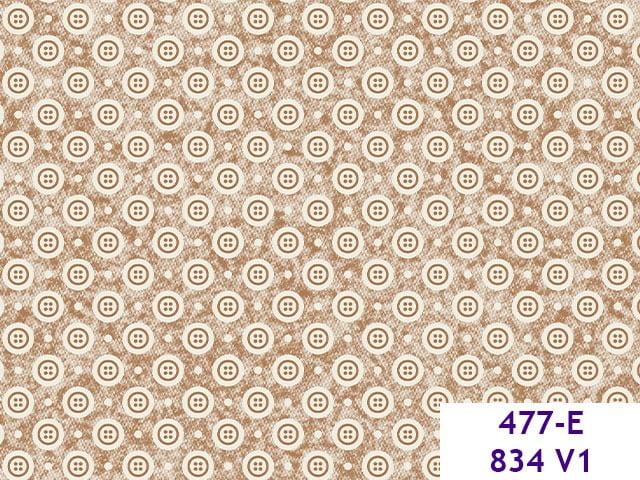 Botões Costura 477 E834 Var01 bege escuro