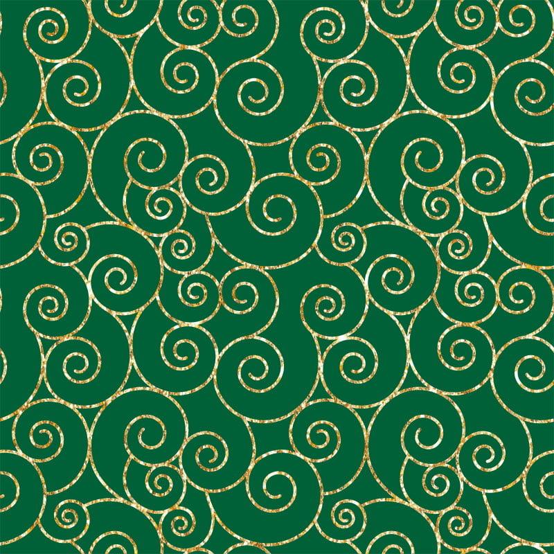 Caracol Natal Dourado Fundo Verde 1166 Var59