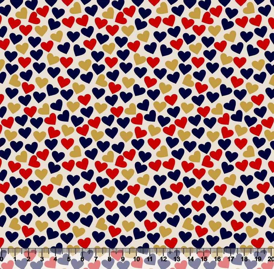 Coração Marinho Vermelho E DOURADO Des 3604 Var03