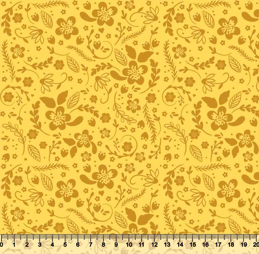 Floral Tom Tom 3621 Var05 - Amarelo