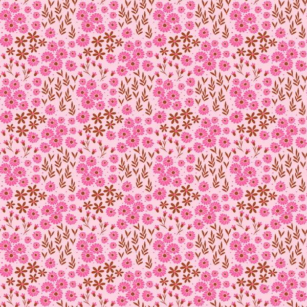 Mini Flores 2016 Var02 fundo rosa bebe