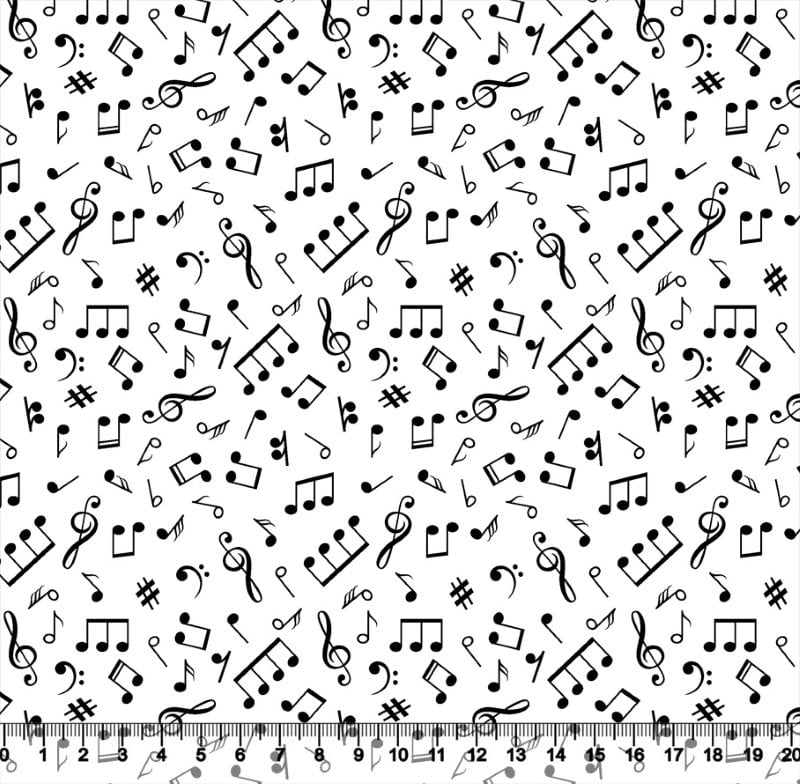 Musical Nota Fundo Branco 3663 Var01