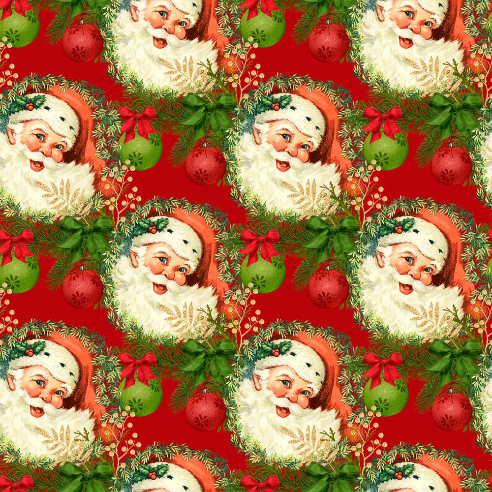 Papai Noel Natal - Tecido Sarja Impermeável 100% Alg 9001e110
