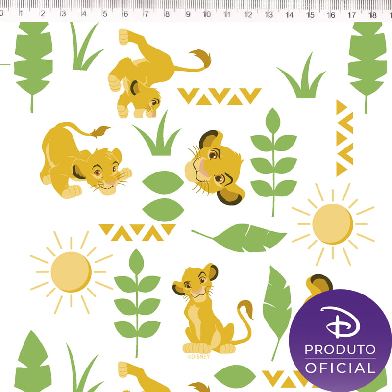 Rei Leão SIMBA Folhas Disney - LK003C01 - Fernando Maluhy